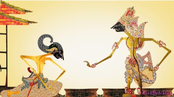 ………mulatmara Sang Arjuna esmu kamanungsan, kasrepan tingkahing mungsuh niran padha kadang taya wawang neh, hana pwa ng anak ing yayah mwang ibu len uwanggeh paman …….