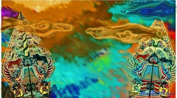 . rusake wukir Suwela | Batharendra kang minulih | miwah wukir ing Maendra | wuwuh wowohane malih | dewa ngundhang-undhangi | samya amêmulih gunung | Sang Prabu Wibisana | têtêp karatonirèki | jawi kitha sakala praja raharja ||