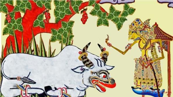 …Sapi Andini duk ngrungu | panabdane Hyang Pramèsthi | surut suraning wardaya | mêndhak mandhêpa ing siti | apan nuli tinitihan | dening Sang Hyang Mahasidhi …..