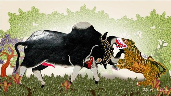 ..... ingamuk wani sinundhang   ingundha kinarya undhi   sruning miris kèhing macan   prasêtya salami-lami   tan nêdya wani-wani   marang andaka sawêgung   kunêng ing Mêdhangpura   kocap wontên mina aji   marêk marang byantarèng Sri Matswapatya ....