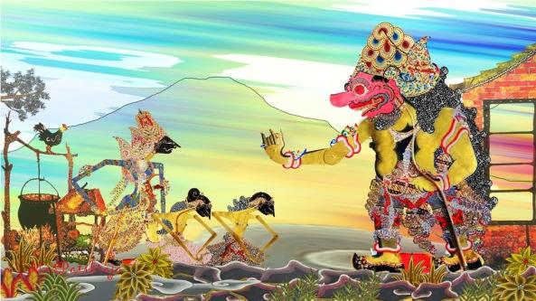 . ..yeka môngka pangane Hyang Kala pêsthi | dadya rad-aradan | yogyane dipun singkiri | girisa tyase Hyang Kala ||